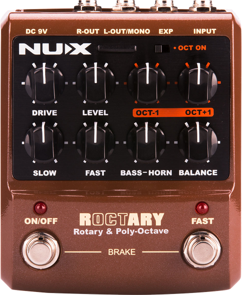 Nux Roctary Rotary Simulator and Polyphonic Octave Pedal
