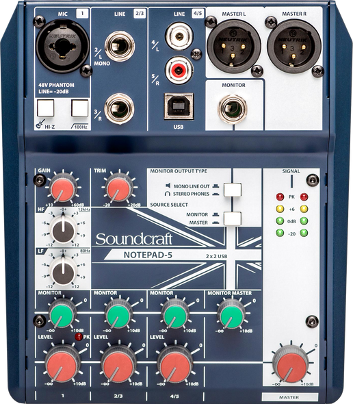 Soundcraft Notepad-5 Compact Mixer with USB