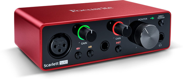 Focusrite Scarlett Solo 3rd Gen 2-in/2-out USB Audio Interface