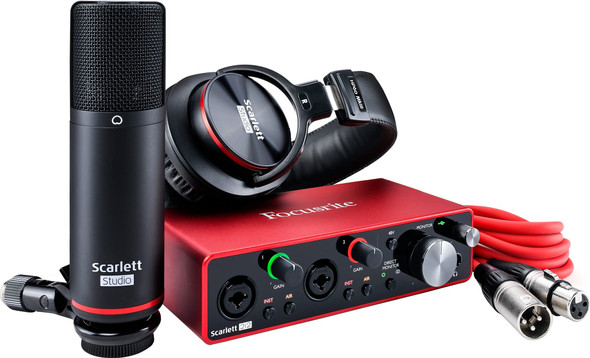 Focusrite Scarlett 2i2 Studio 3rd Gen USB Audio Interface Pack