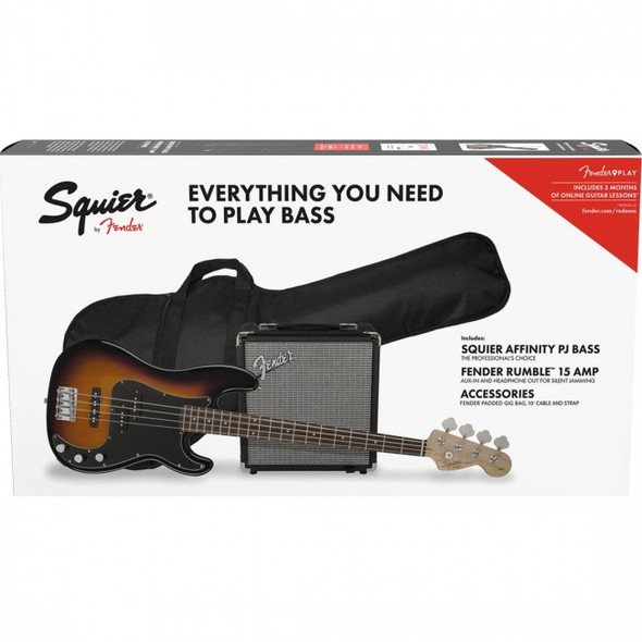 SQUIER AFFINITY SERIES™ PRECISION BASS® PJ PACK BSB