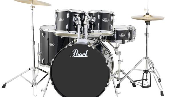 """Pearl Roadshow-X 22"""" 5-PCS Fusion Plus Drum Kit PKG Jet Black"""