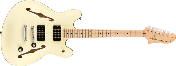 Squier Affinity Series Starcaster Olympic White With Maple Fingerboard