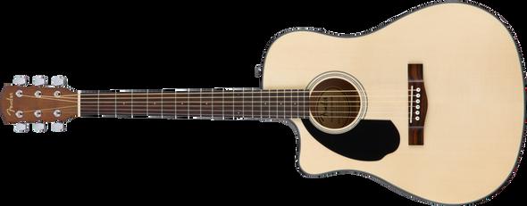 Fender CD-60SCE Left-Hand, Natural, Walnut