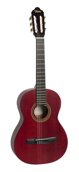 Valencia VC204 Classical Guitar Transparent Wine Red