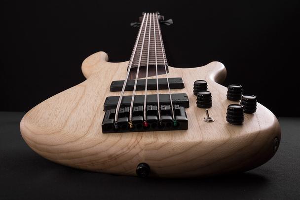 Cort B5 Plus Left Hand 5 String Bass Open Pore Swamp Ash
