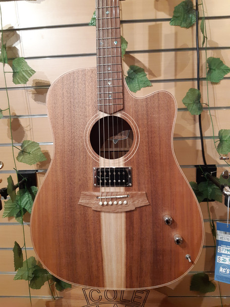 Trade In Cole Clark CCFL2EC FL Dreadnought 2 Acoustic Electric Guitar W/Humbucker - Blackwood