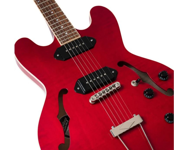 Heritage H-530 Hollow Body Guitar - Trans Cherry
