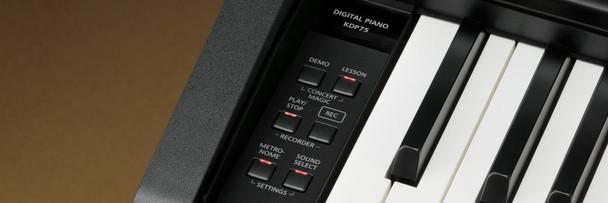 Kawai KDP75 Digital Piano With Bench - Black.