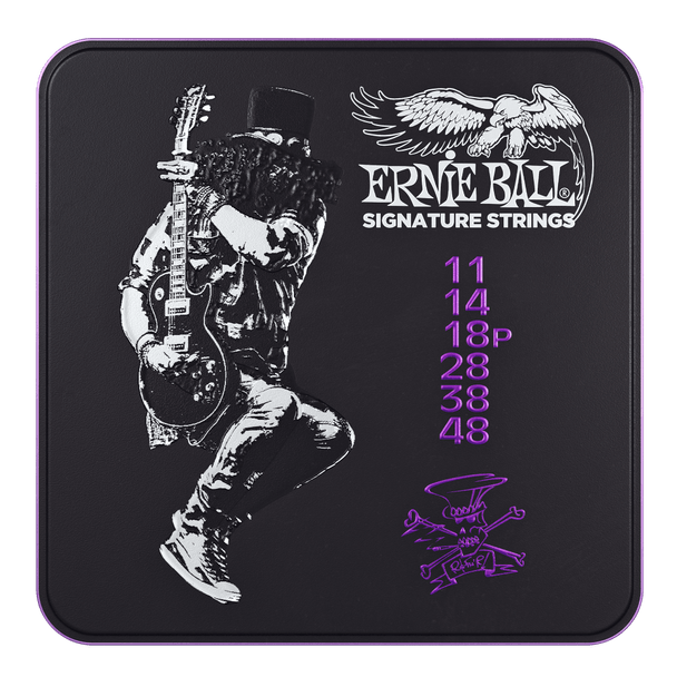 Ernie Ball Slash Signature Strings - 3 Sets with Collectors Tin