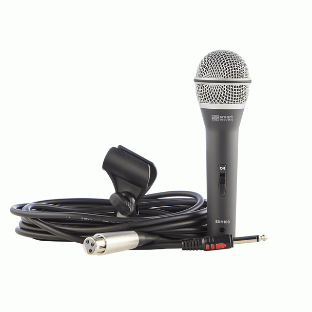 Smart Acoustic SDM100J Dynamic Microphone With Free XLR to Jack Cable