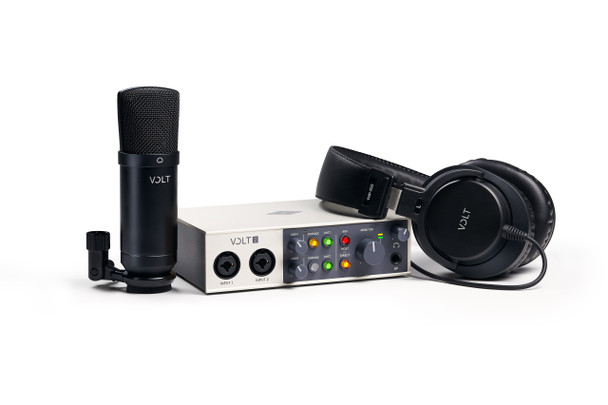 Universal Audio Volt 2 Studio Bundle - 2 in 2 Out USB 2.0 Audio Interface with Condenser Microphone and Headphones