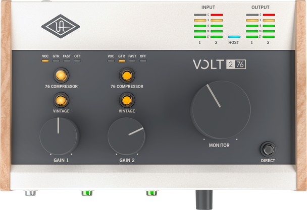 Universal Audio Volt 276 Studio Bundle - 2 in 2 Out USB 2.0 Audio Interface with Condenser Microphone and Headphones