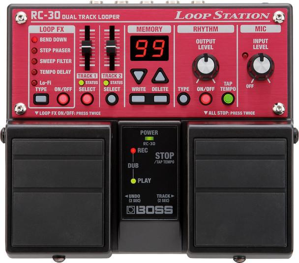 Boss RC30 Dual Track Loop Guitar Pedal Board