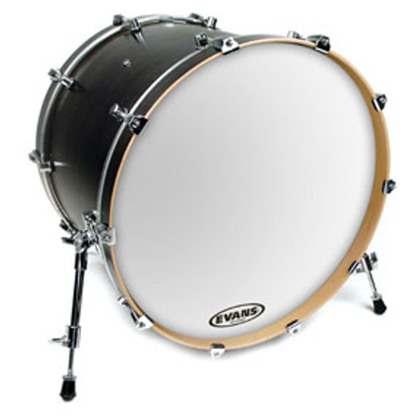 Evans EQ3 Smooth White Resonant Bass Drum Head