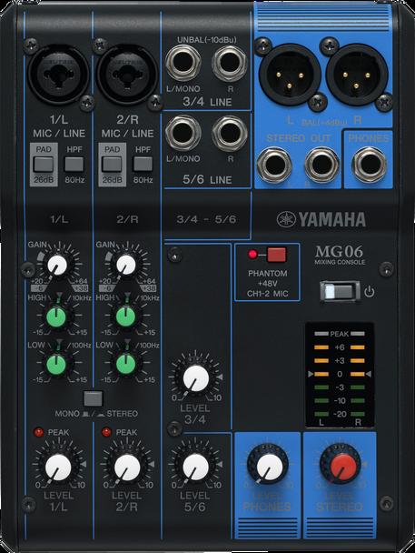 Yamaha MG06 Stereo Mixer