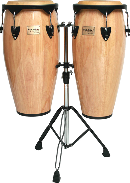 """Tycoon Percussion STC-1B N/D 10"""" & 11"""" Supremo Series Congas Natural"""