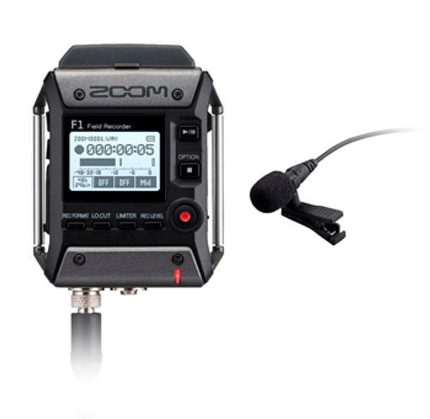 Zoom F1-LP Field Recorder with Lavalier Microphone