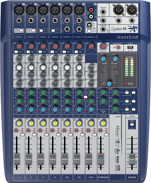 Soundcraft Signature 10 Analogue Mixer with USB & Effects