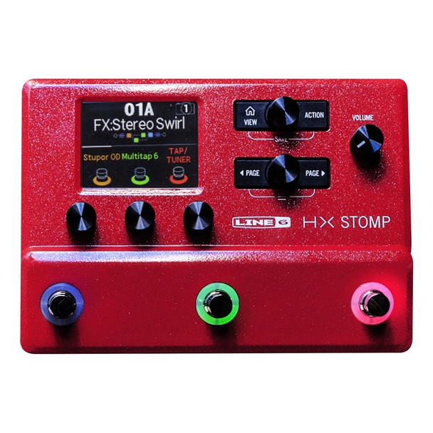 Limited Edition Red Line 6 Helix HX Stomp -RED