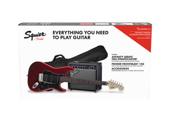SQUIER AFFINITY SERIES™ STRATOCASTER® HSS PACK CANDY APPLE RED