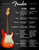 Fender American Ultra Stratocaster®, Maple Fingerboard, Cobra Blue