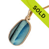 This English sea glass pendant in gold has been sold!