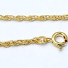 Comes with our Free Gold PLATED chain, but you can upgrade to goldfilled chains in various styles and lengths from 18 to 24 inches. 24 inch chains are great is you have a problem fastening clasps. Shown here in a 2mm Snake Chain (NOT INCLUDED)