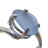 Detail of Carolina Blue sea glass ring. Remember we leave our sea glass UNALTERED from the way it was found on the beach.