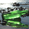 Many green sea glass pieces started as beer or soda bottles tossed into the sea. A true eco friendly beach gemstone!