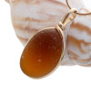 Stunning bright amber sea glass necklace