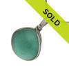 Aqua Green Sea Glass Sterling Wire Bezel© Setting Pendant