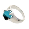A stunning piece of Mixed Aqua sea glass is set in a solid sterling hand cast ring base. This is a wider base and very comfortable. The sea glass piece is TOTALLY UNALTERED from the way it was found on the beach. We sort through thousands of pieces of sea glass to find the right fit for our ring bases.