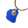 A simple sea glass necklace with 14K goldfilled chain INCLUDED!