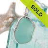 Sorry this sea glass necklace pendant has been sold!