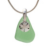 A simple classic sea glass necklace in silver