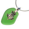 A lovely beach glass necklace for any time of year!