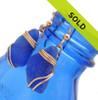 Blue Sea Glass Earrings In Triple 14K Goldfilled
