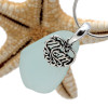 A beautiful piece of pale aqua blue sea glass on a cast sterling bail with a sterling MOM charm. An 18 inch solid sterling snake chain IS INCLUDED!