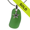 Green Sea Glass With Starfish Charm - S/S CHAIN INCLUDED has been sold!