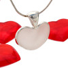 Perfect white sea glass heart pendant in sterling. This is an UNALTERED piece of beach found sea glass and very rare in this natural heart shape!