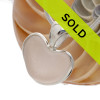 A natural beach found sea glass heart set in our Deluxe Sterling Silver Bezel Setting!