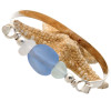 A great low profile bracelet perfect for any sea glass lover!