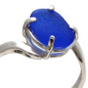 Detail of the unaltered sea glass ring.