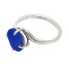 A genuine UNALTERED piece of blue sea glass set in a simple and affordable silver ring.