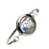 Genuine Sea Glass Locket Bracelet Tiny blue and green genuine sea glass combined with a sandollar  and small piece of genuine seagan in this one of a kind sea glass bangle bracelet!   Sand from the beaches of  Florida complete your Beach To Go!