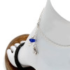 A simple blue sea glass and AAA cultured pearl anklet for your beach trips this summer.  Solid Sterling sea turtle  charm and a feminine delicate rolo chain with soldered utility links ensure this piece will remain with you always!