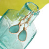 Vivid tropical aqua sea glass from Hawaii is set in our Original Wire Bezel© setting for a stunning pair of 14K goldfilled earrings.  This is the EXACT pair you will receive!