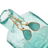 A stunning pair of very desirable aqua sea glass