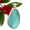 A stunning HUGE vivid aqua necklace pendant can be detached and worn on the 2MM 24 inch snake chain that COMES WITH this purchase!